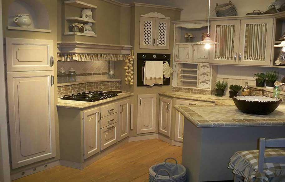 Cucine artigianali rustiche in muratura - Misure cucine in muratura ...