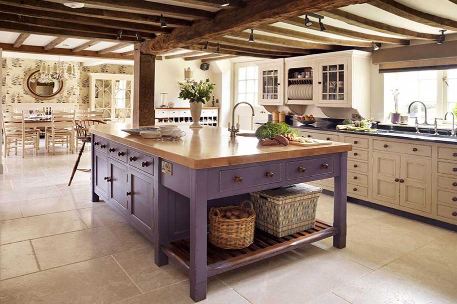 Cucine vintage su misura con materiali di qualit artigianale - Cucine su misura milano ...