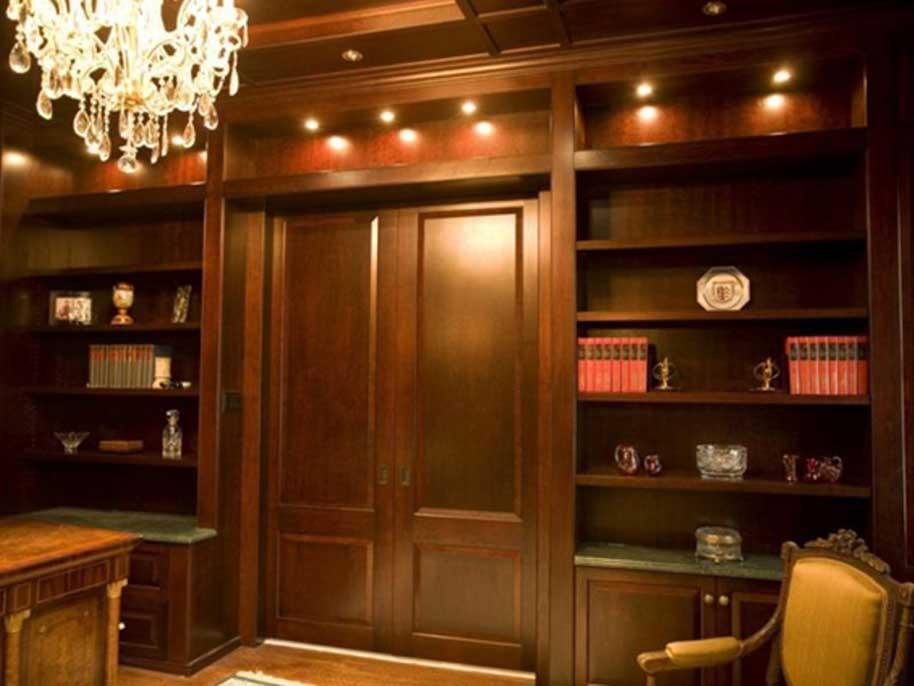 Libreria In Legno Noce.Librerie In Legno Per Studio