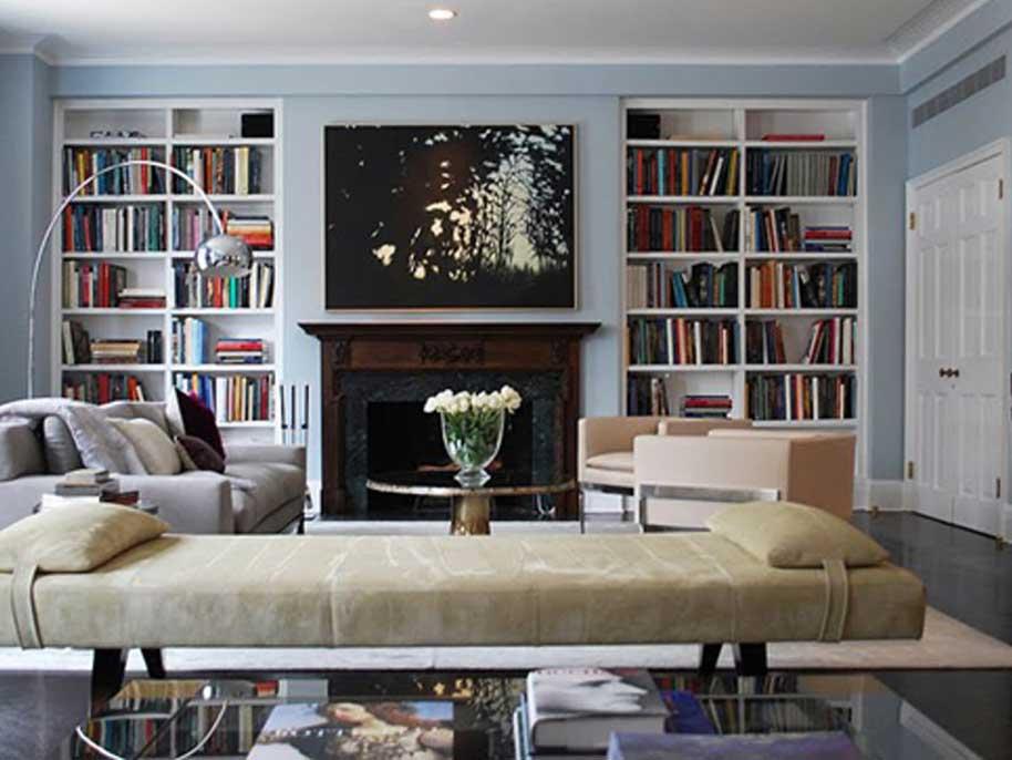 Librerie a parete su misura for Librerie bianche