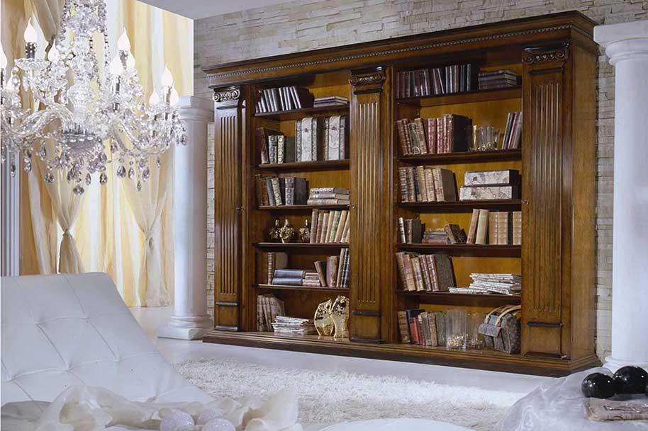 librerie classiche in legno su misura