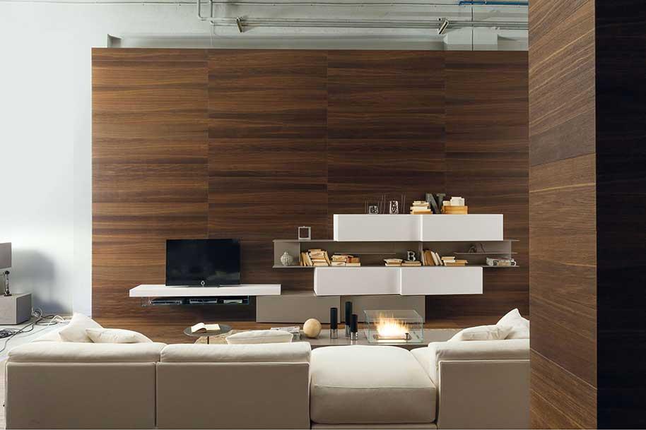 Rivestimento pareti in legno per la casa boiseries su misura - Rivestire parete con legno ...